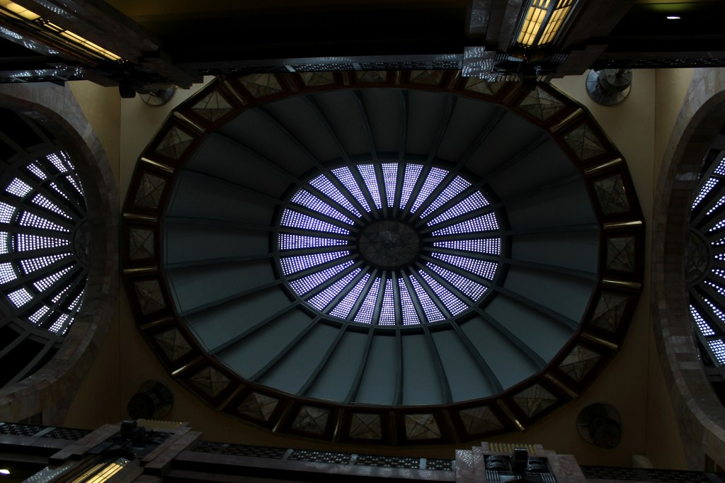 Interior ceiling at Palacio de Bellas Artes.