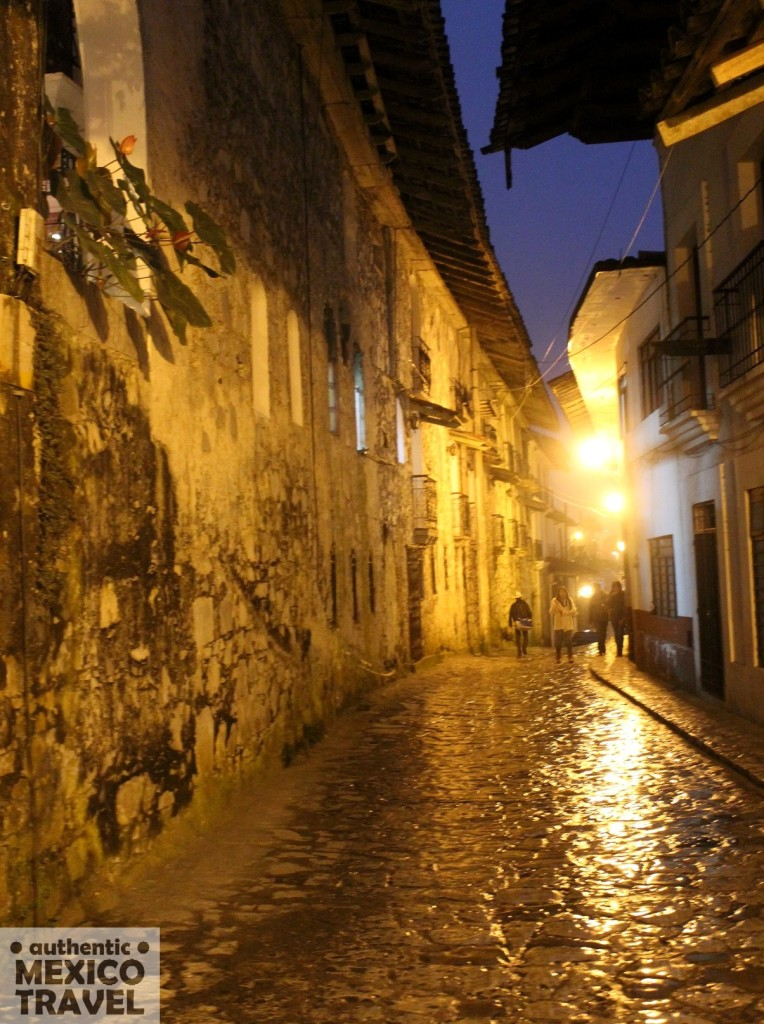 The wet cobblestone streets of Cuetzalan give it a European feel...especially at 6am