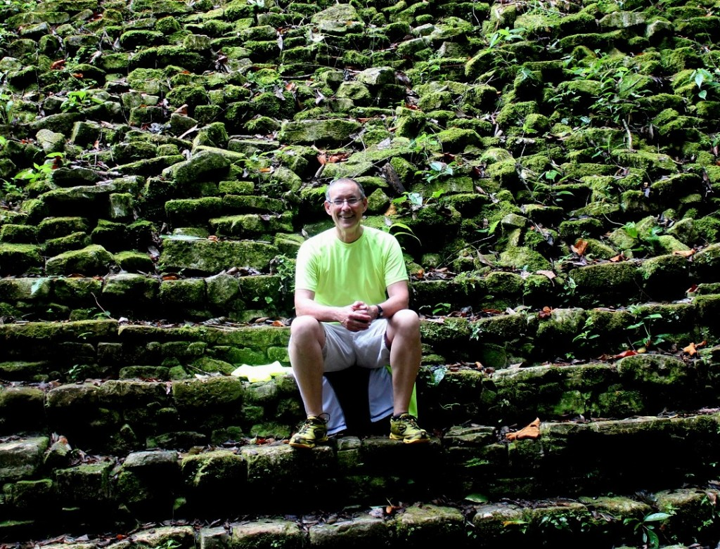 Dave Hensleigh at the Palenque ruins
